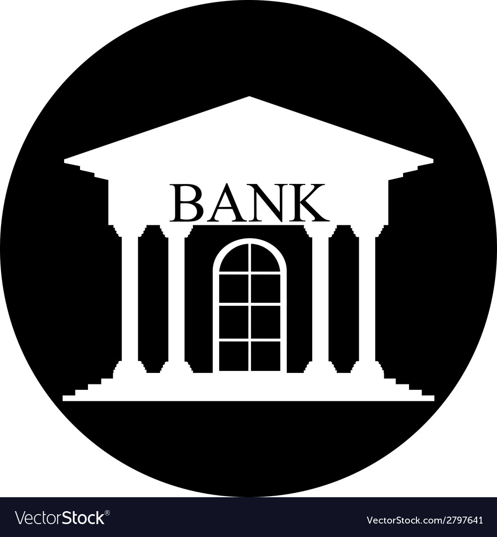 Bank button vector | Price: 1 Credit (USD $1)