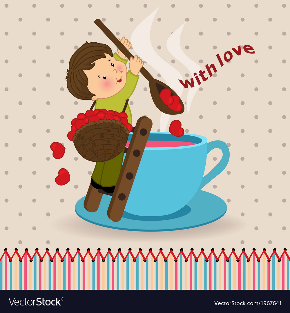 Boy with love vector | Price: 1 Credit (USD $1)