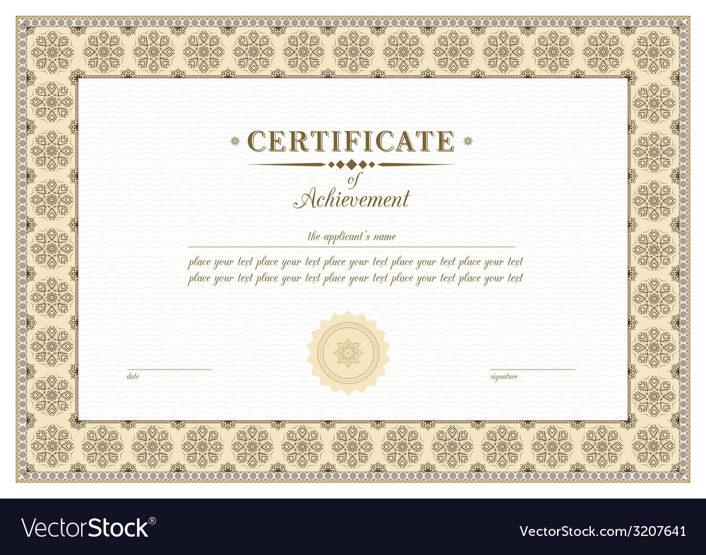 Braun certificate vector | Price: 1 Credit (USD $1)