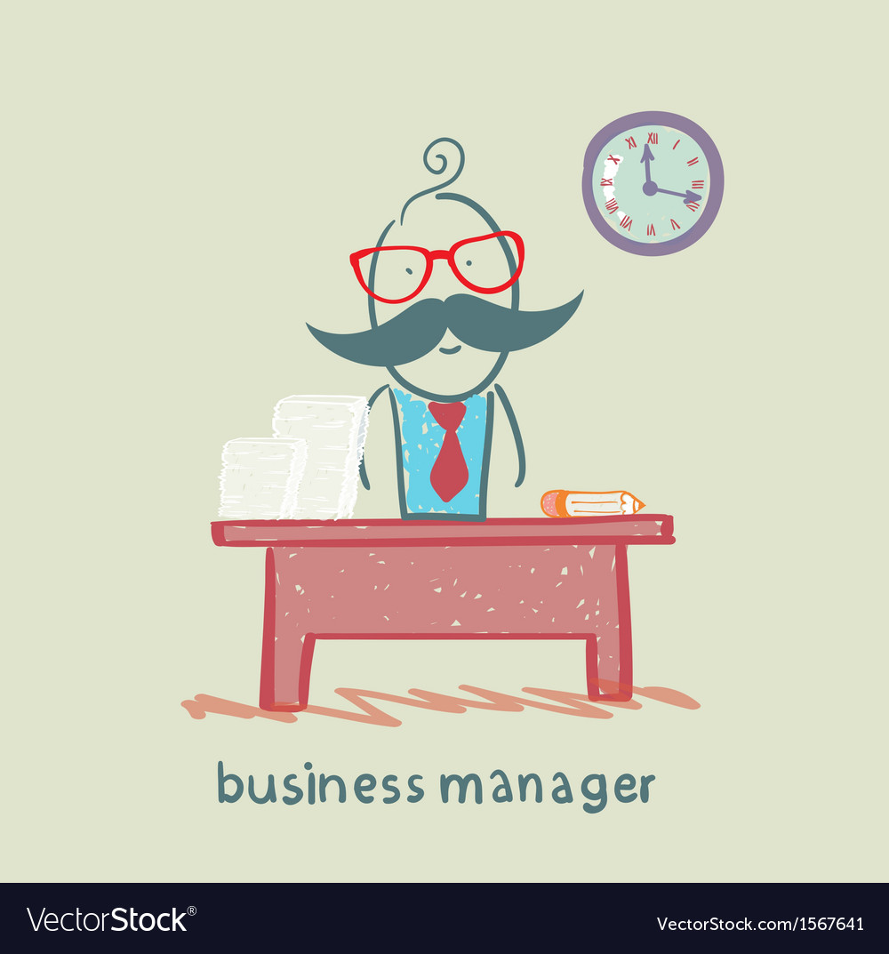 Business manager at his workplace vector | Price: 1 Credit (USD $1)