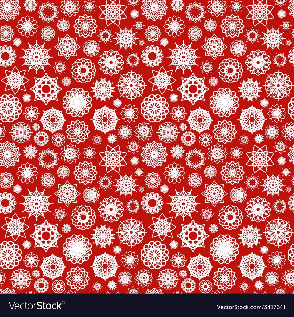 Christmas ornamental snowflakes pattern vector | Price: 1 Credit (USD $1)
