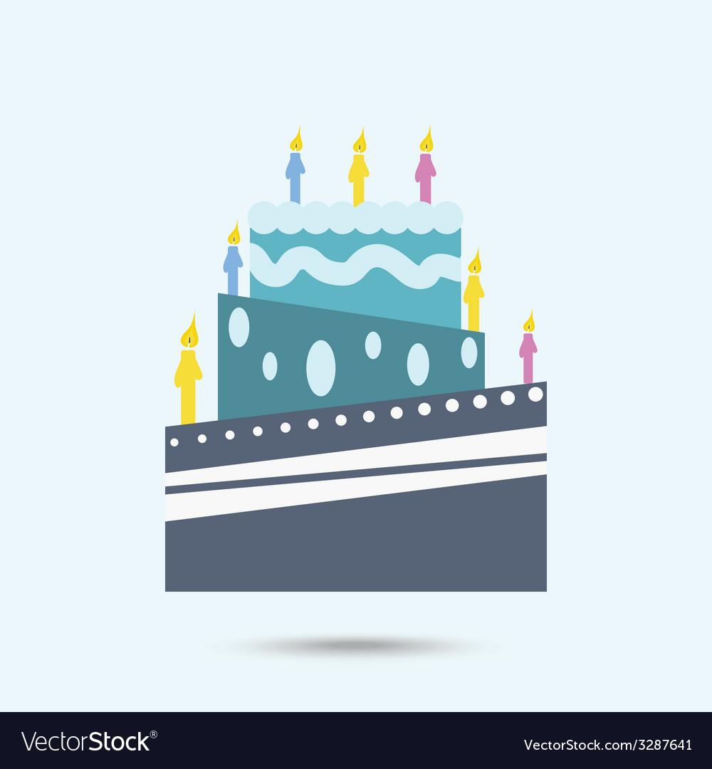 Color cake vector | Price: 1 Credit (USD $1)