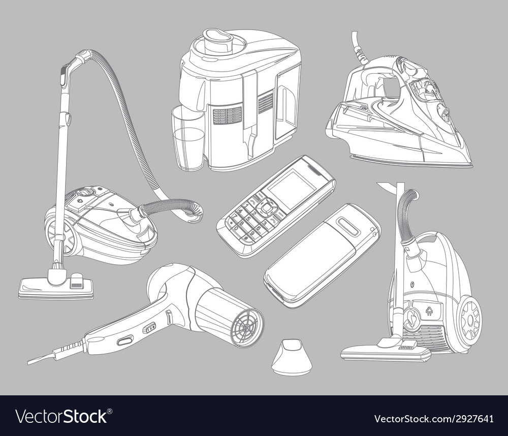 Household goods vector | Price: 1 Credit (USD $1)