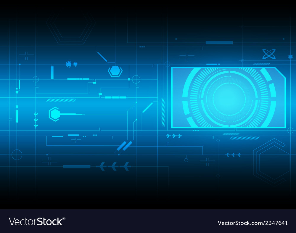 Interface technology background vector | Price: 1 Credit (USD $1)