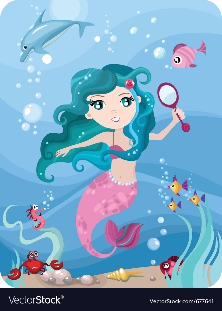 Mermaid vector | Price: 5 Credit (USD $5)