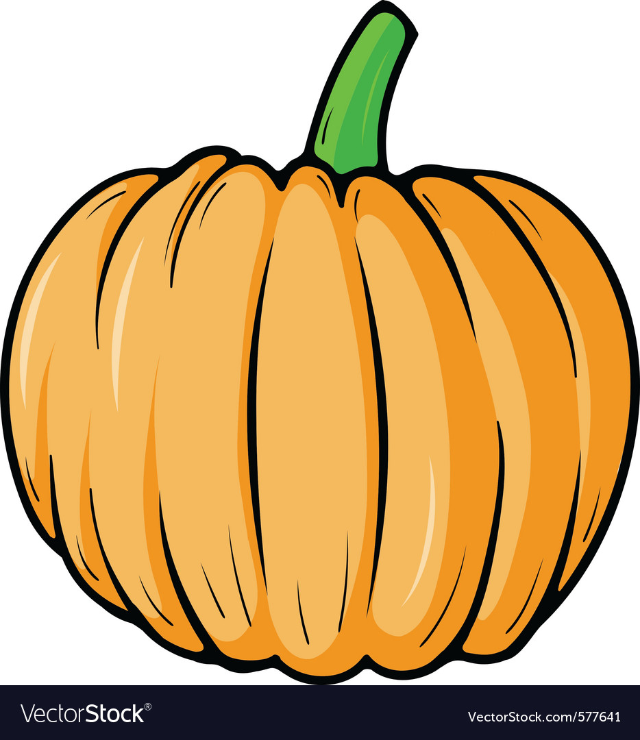 Pumpkin cartoon vector | Price: 1 Credit (USD $1)