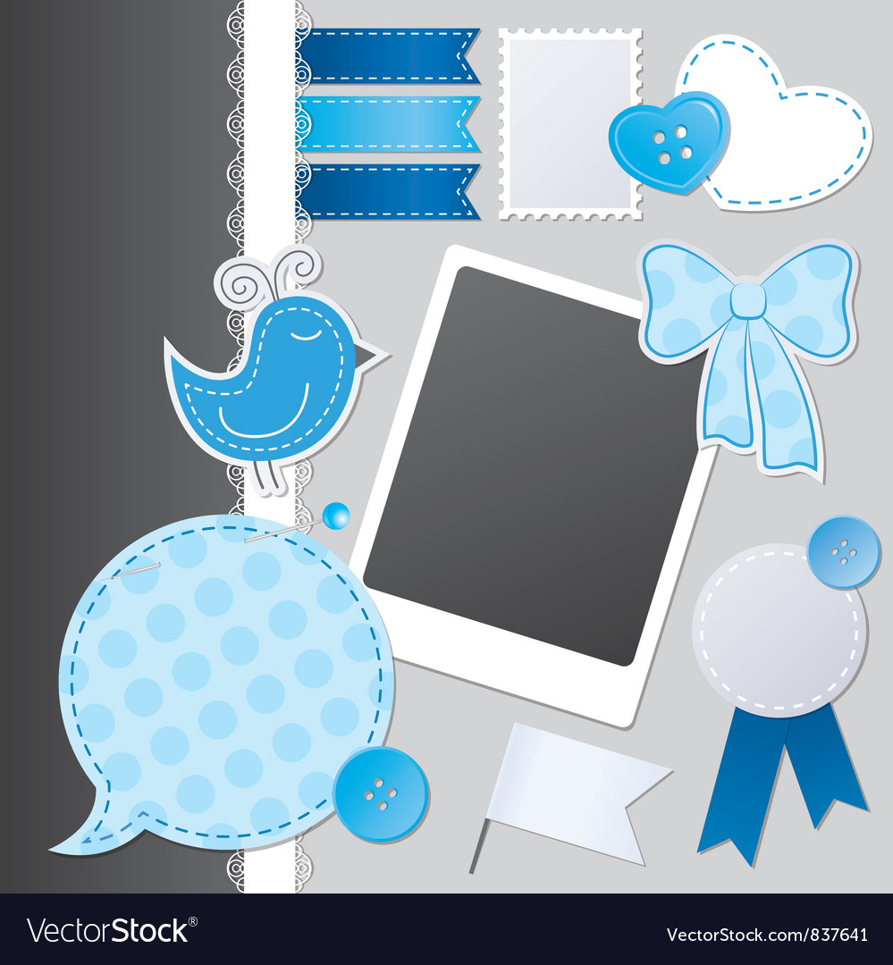 Scrapbooking set vector | Price: 1 Credit (USD $1)