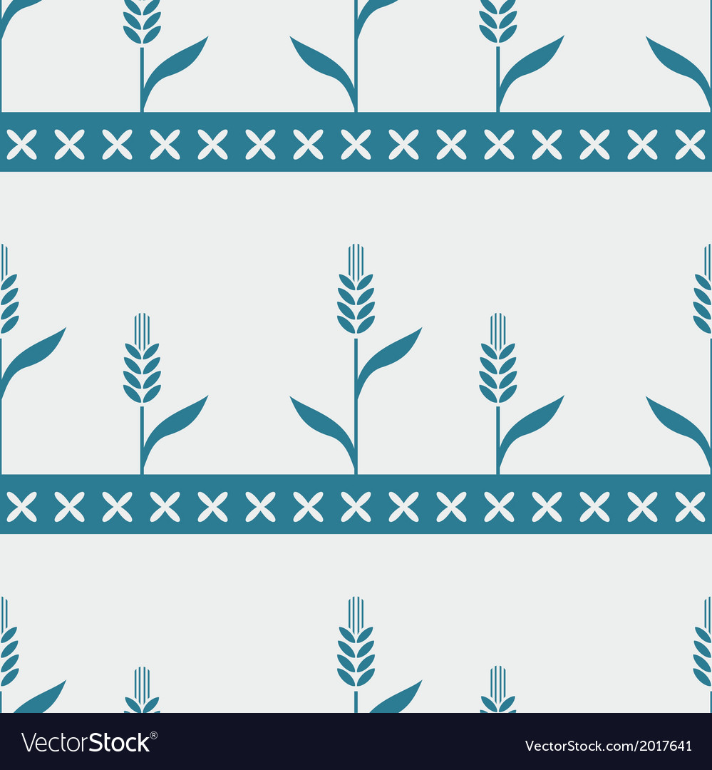 Seamless pattern with cereals vector | Price: 1 Credit (USD $1)