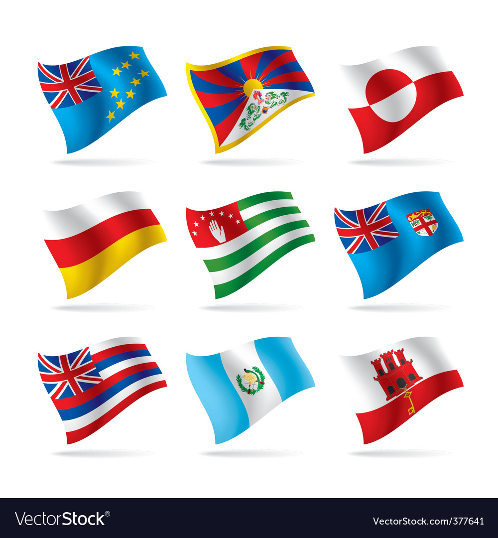 Set of world flags 15 vector | Price: 1 Credit (USD $1)