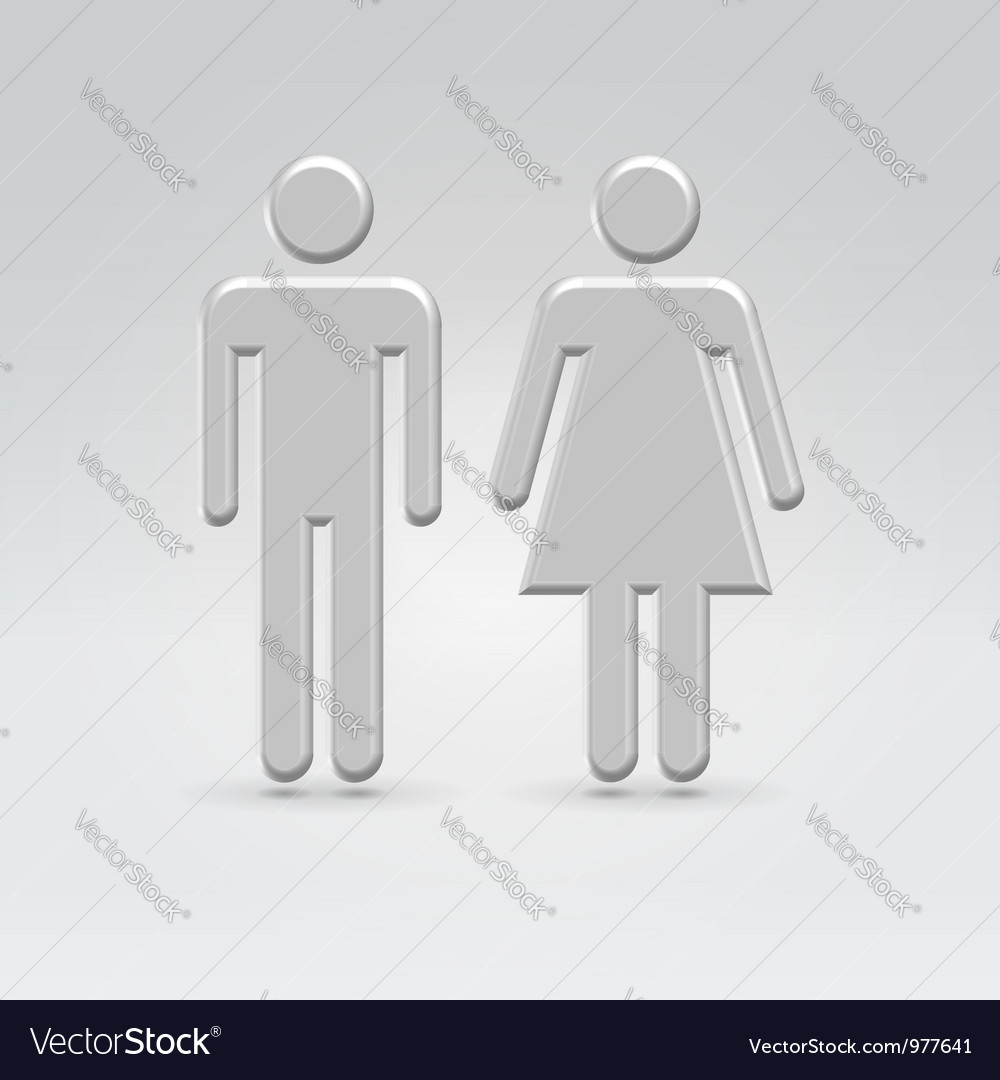 Silver person couple icon vector | Price: 1 Credit (USD $1)