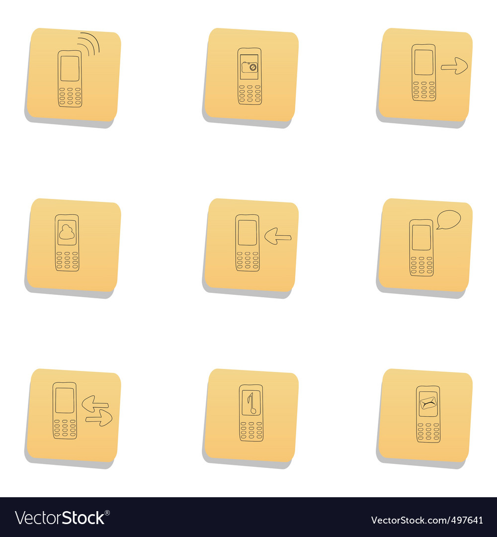 Sketchy communication icons vector | Price: 1 Credit (USD $1)