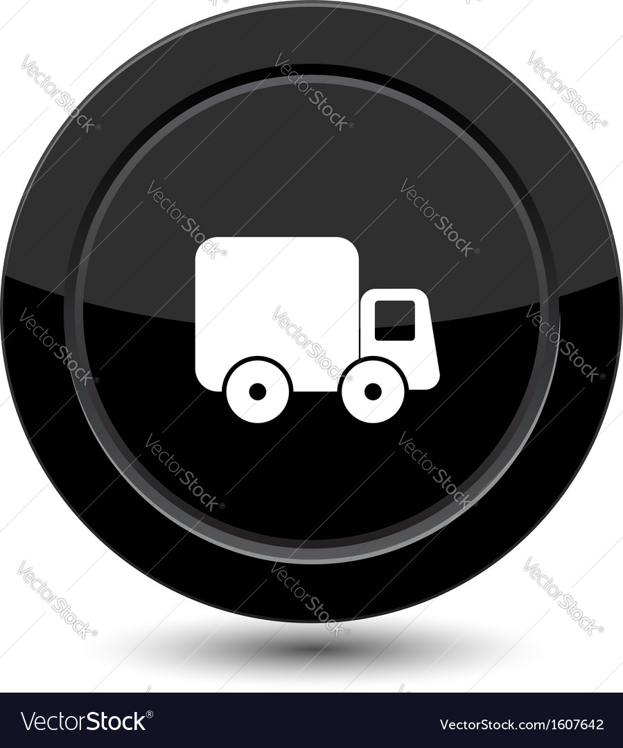 Button with truck vector | Price: 1 Credit (USD $1)