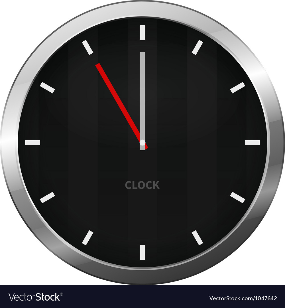 Dark clock vector | Price: 1 Credit (USD $1)