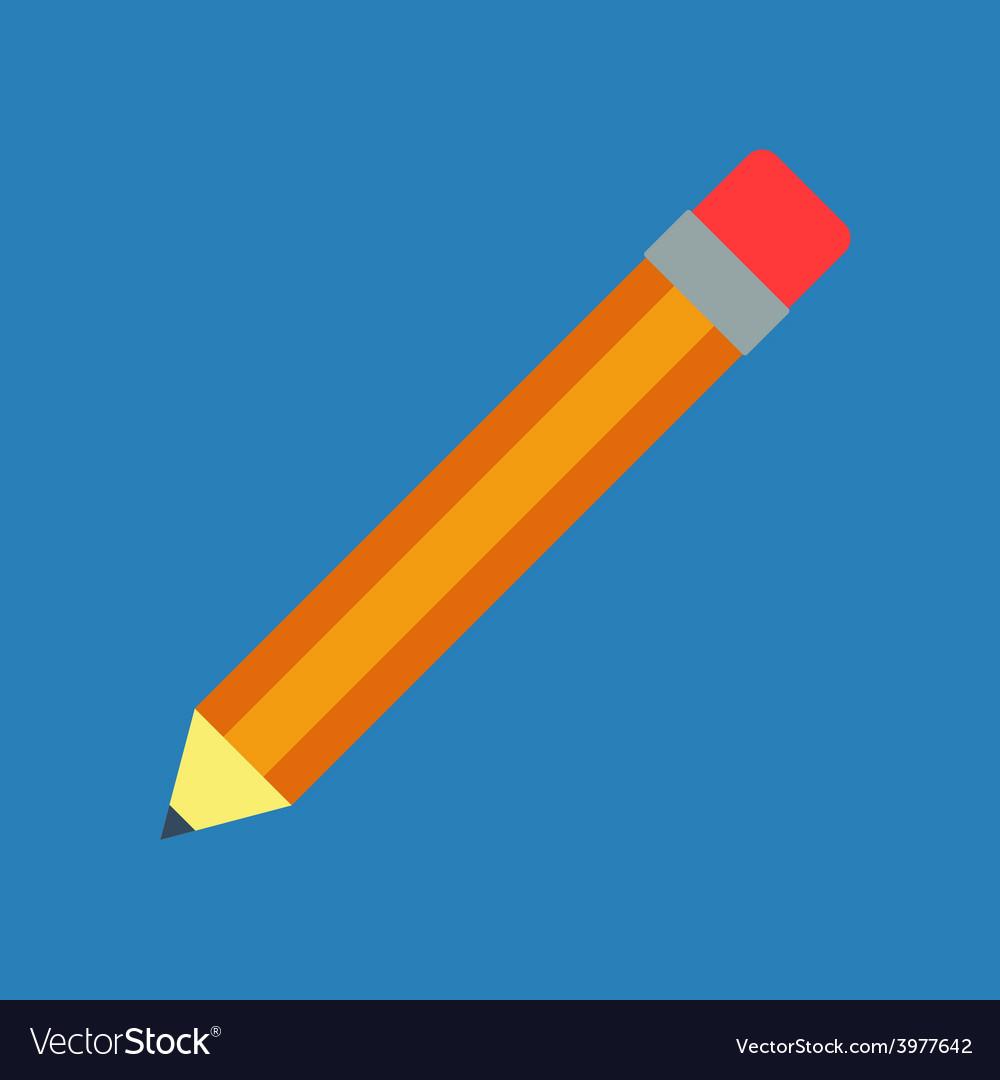 Flat pencil vector | Price: 1 Credit (USD $1)