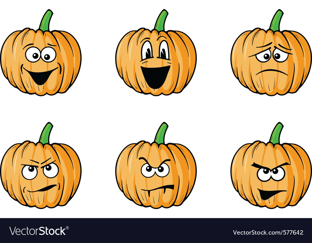 Halloween face pumpkins vector | Price: 1 Credit (USD $1)
