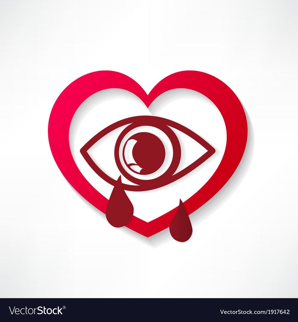 Heart eye design vector | Price: 1 Credit (USD $1)
