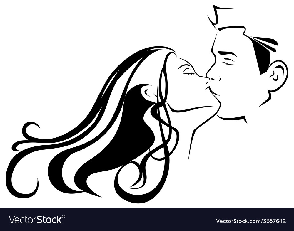 Kissing vector | Price: 1 Credit (USD $1)