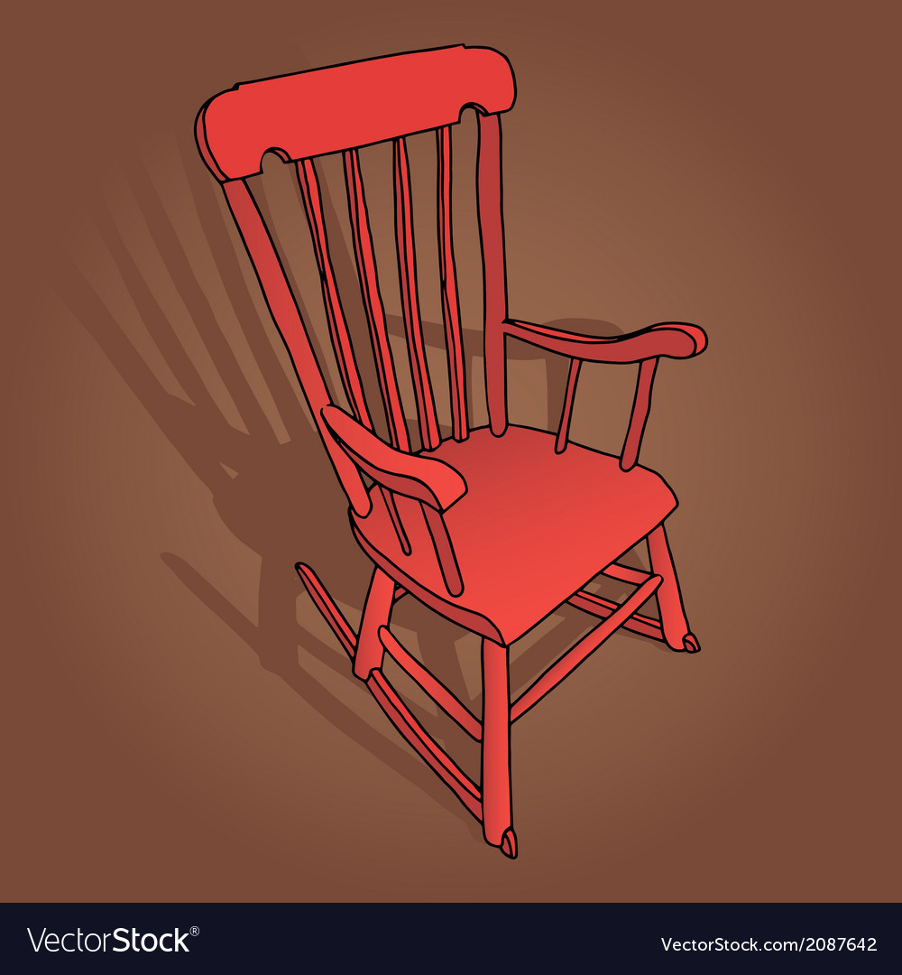 Little red rocking chair vector | Price: 1 Credit (USD $1)