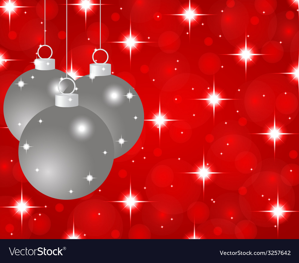 Red christmas background with christmas balls vector | Price: 1 Credit (USD $1)