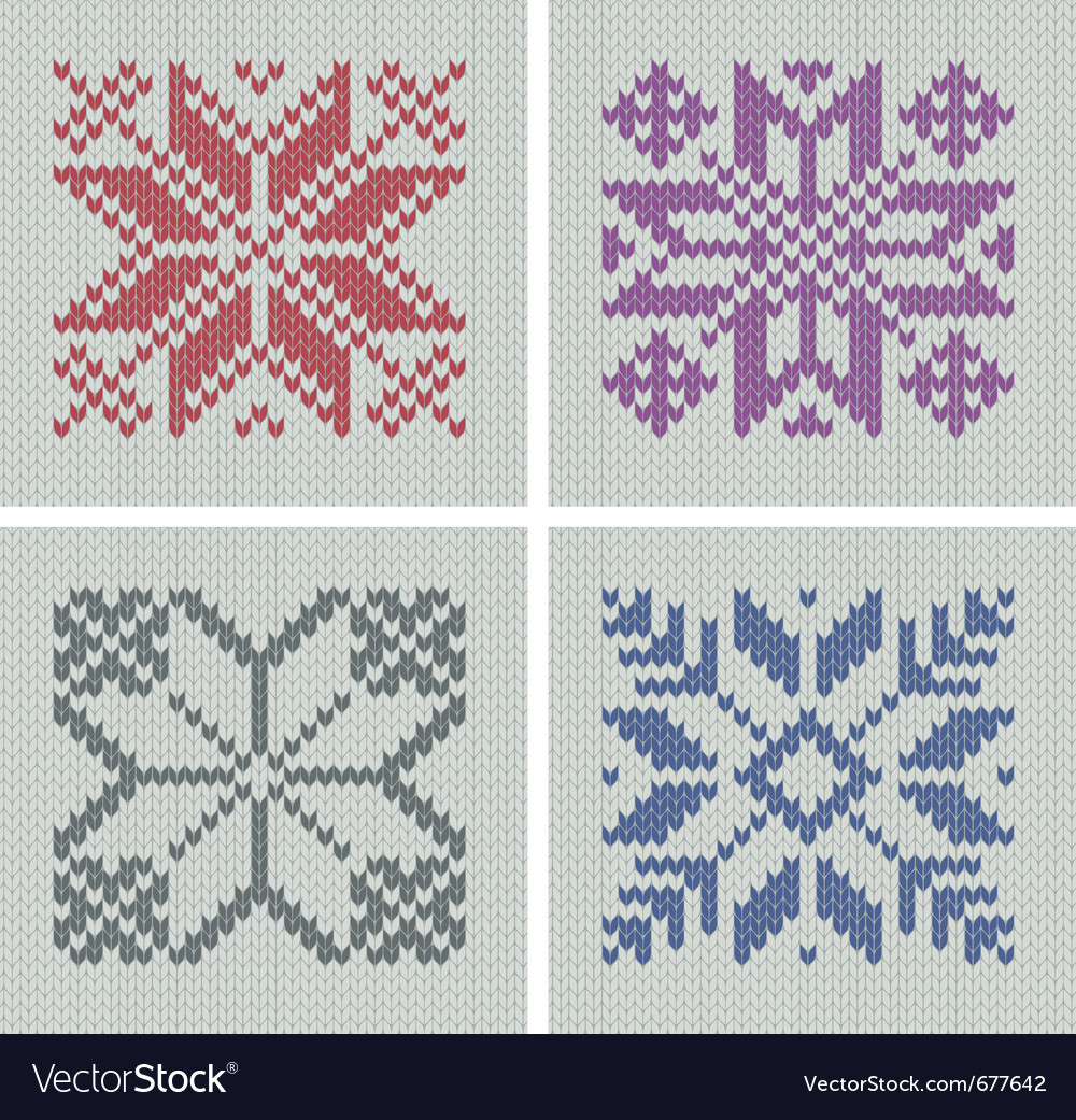 Set of norwegian traditional knitting designs vector | Price: 1 Credit (USD $1)