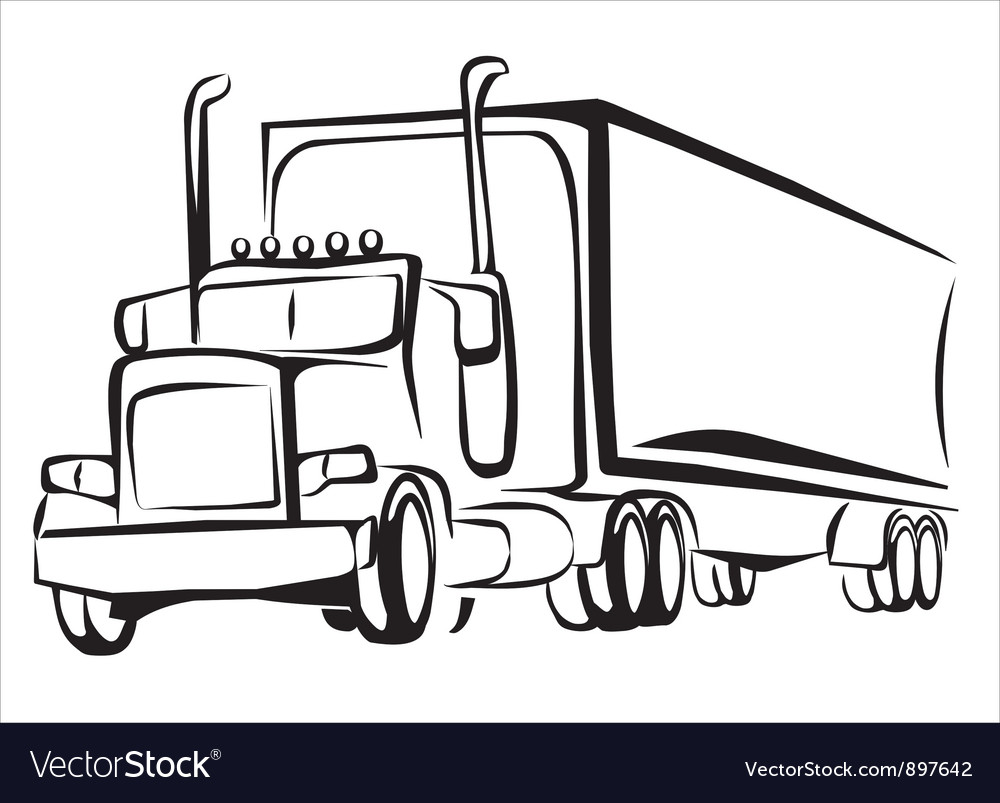 Truck symbol vector | Price: 1 Credit (USD $1)