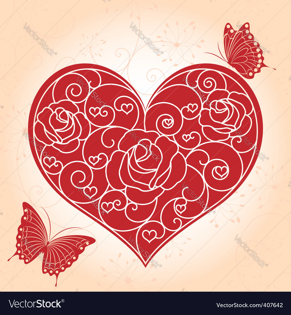 Valentine day greeting card vector | Price: 1 Credit (USD $1)