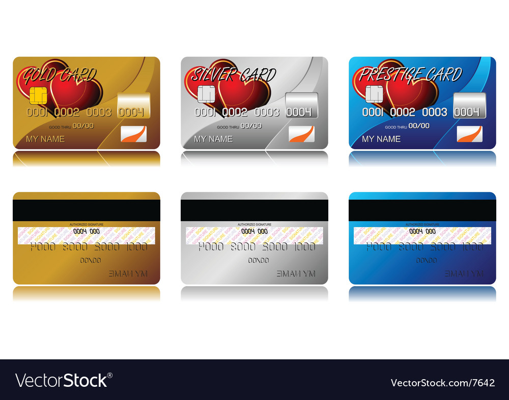 Valentines credit cards vector | Price: 3 Credit (USD $3)