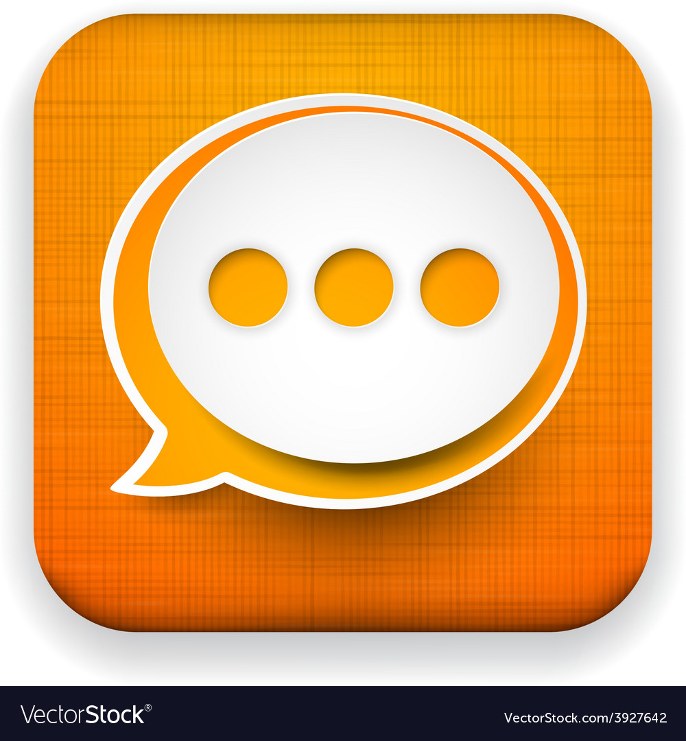 Web linen app speech bubble icon vector | Price: 1 Credit (USD $1)
