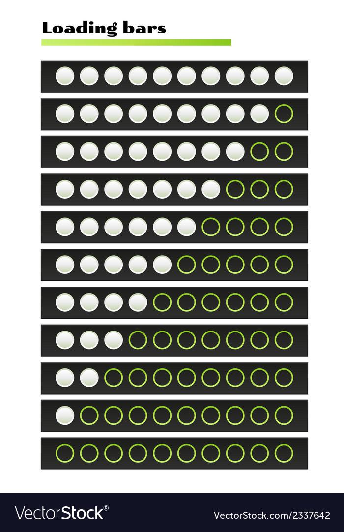 White loading bars vector | Price: 1 Credit (USD $1)