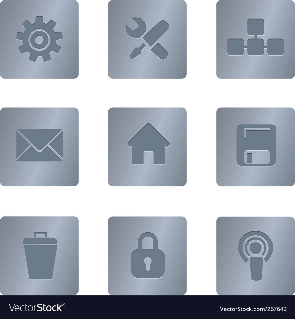 02 steel square computer icons vector | Price: 1 Credit (USD $1)