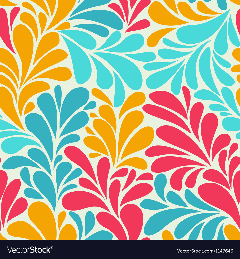 Abstract romantic seamless wallpaper with curls vector | Price: 1 Credit (USD $1)