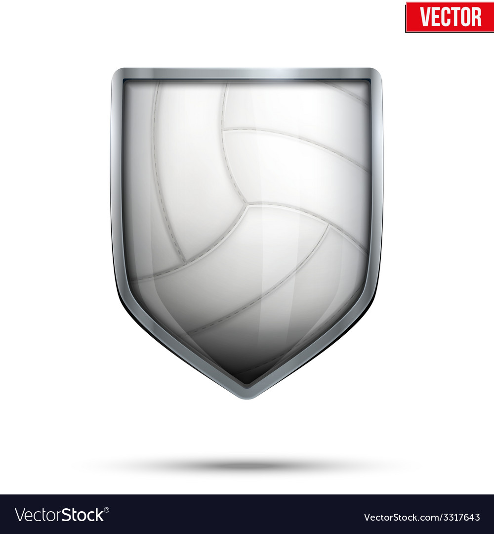 Bright shield in the volleyball ball inside vector | Price: 1 Credit (USD $1)