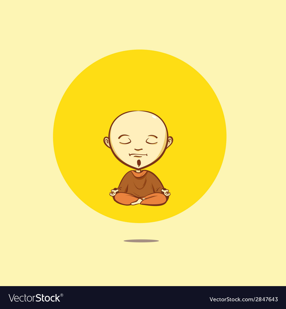Cartoon buddhist monk vector | Price: 1 Credit (USD $1)