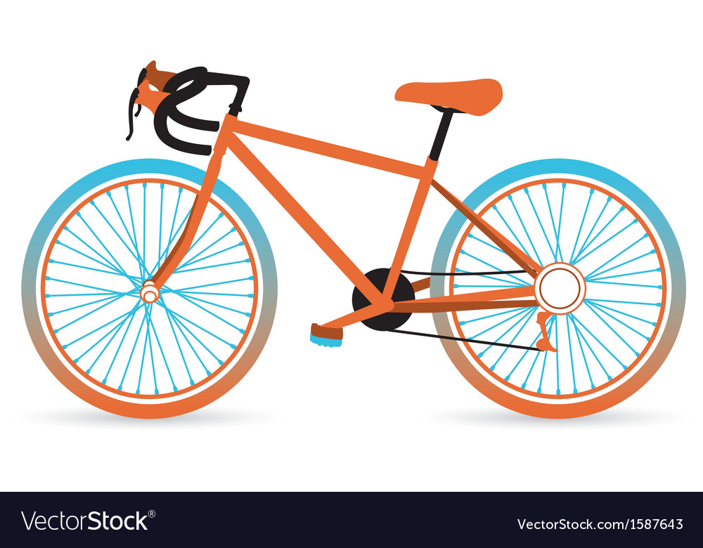 Colorful bicycle vector | Price: 1 Credit (USD $1)