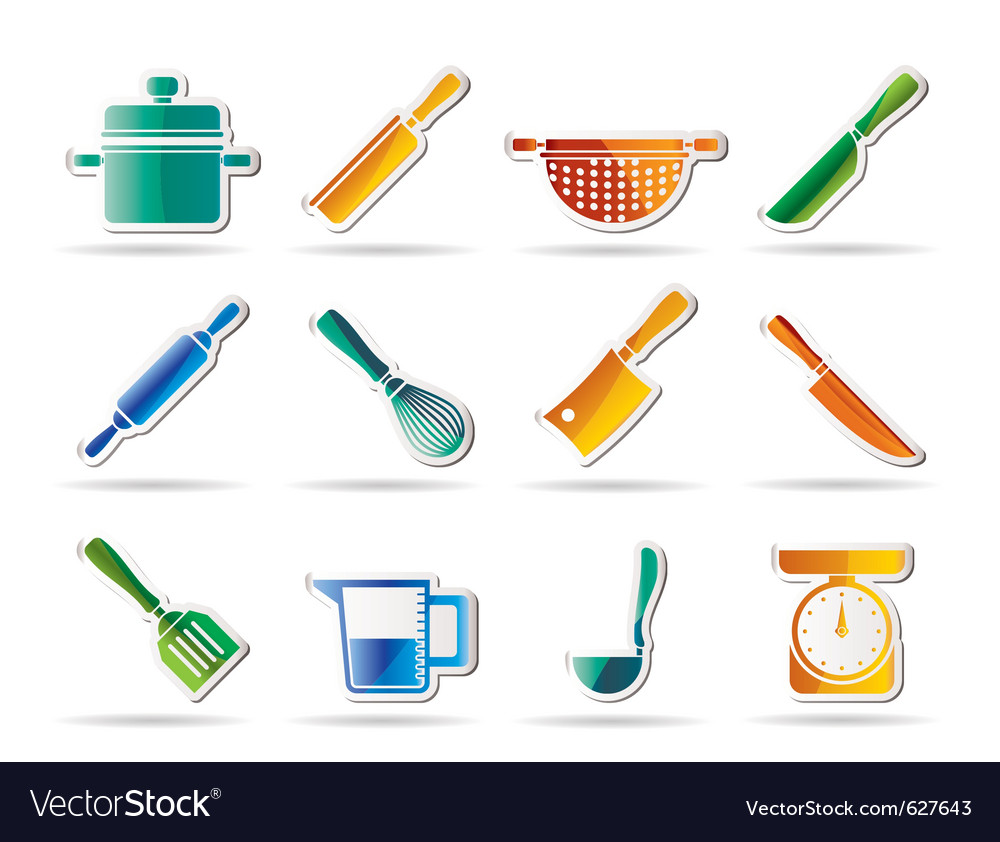 Cooking equipment and tools icons vector | Price: 1 Credit (USD $1)