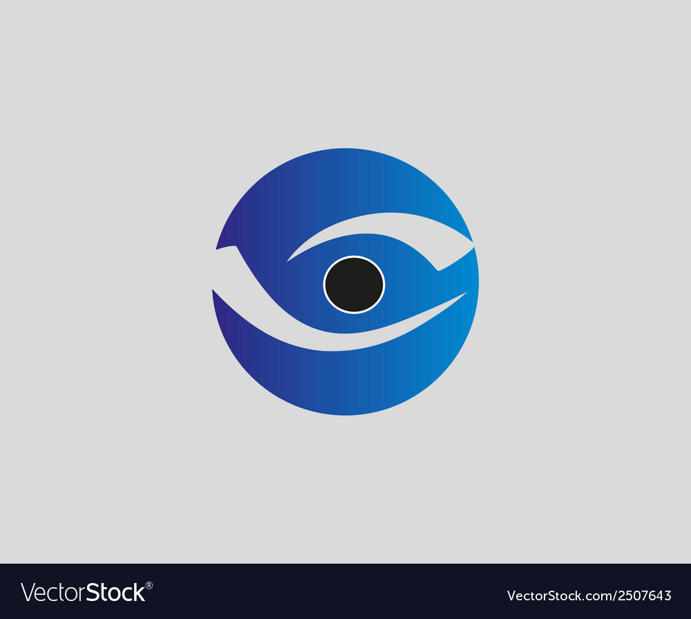 Eye vision logo design template eye icon vector | Price: 1 Credit (USD $1)