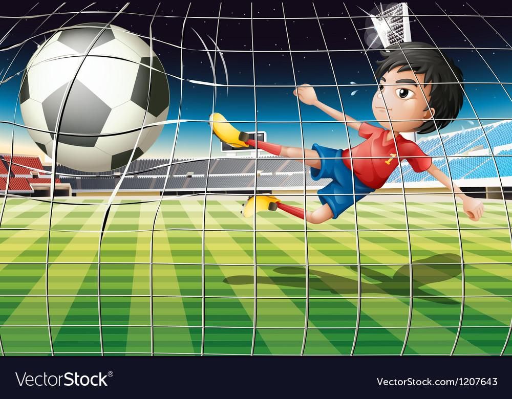 Football kicker vector | Price: 1 Credit (USD $1)