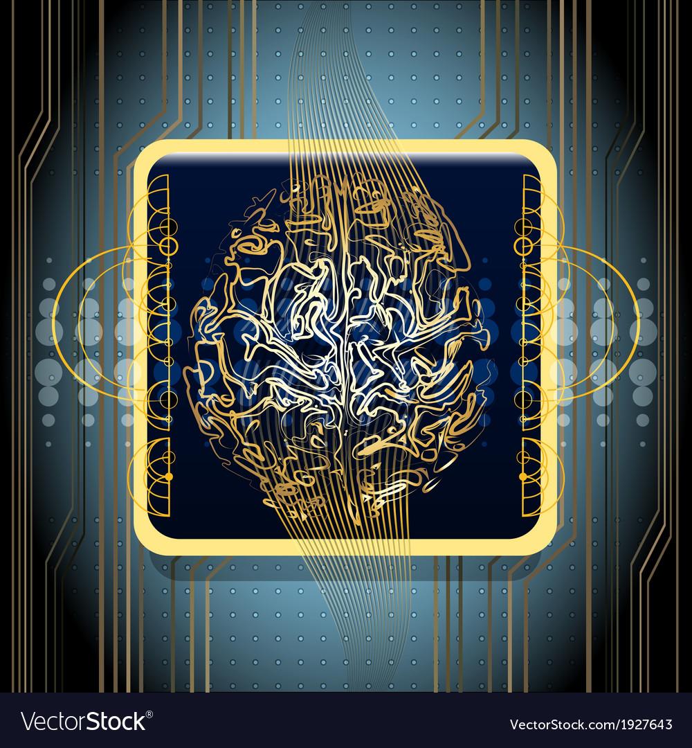 Golden brains vector | Price: 1 Credit (USD $1)