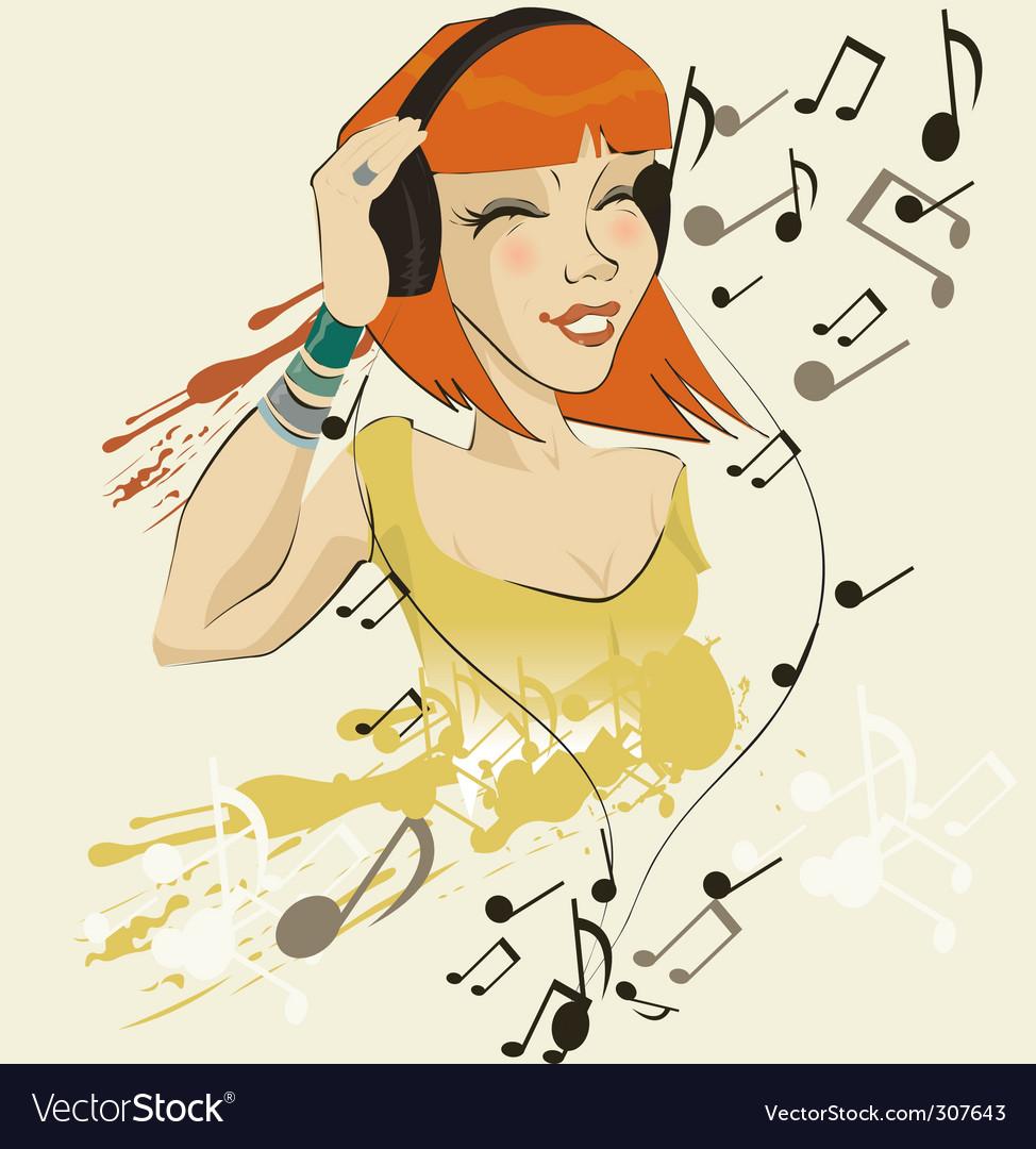 Headphone sally vector | Price: 3 Credit (USD $3)