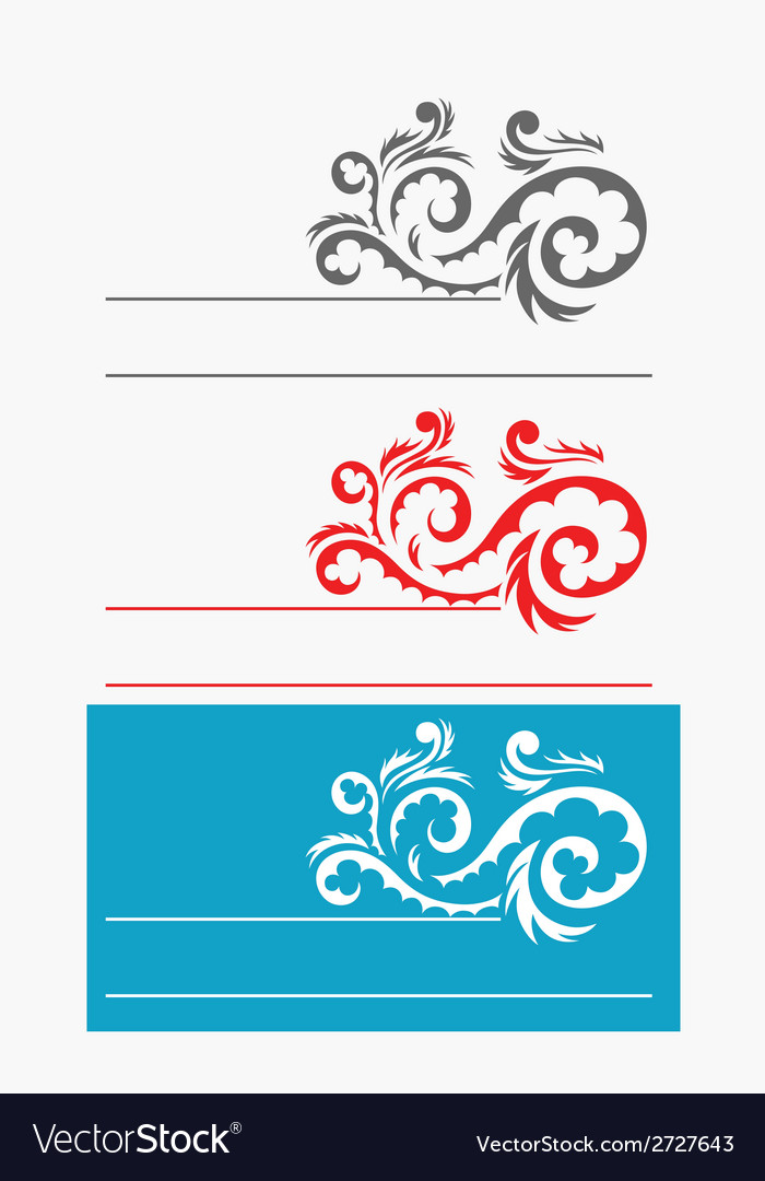 Label ornate vector | Price: 1 Credit (USD $1)