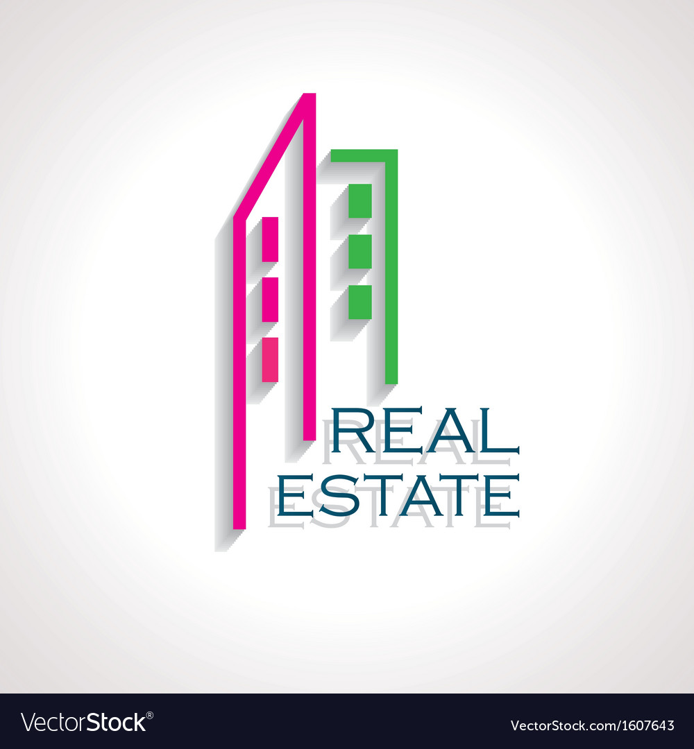 Modern real estate icon for business design vector | Price: 1 Credit (USD $1)