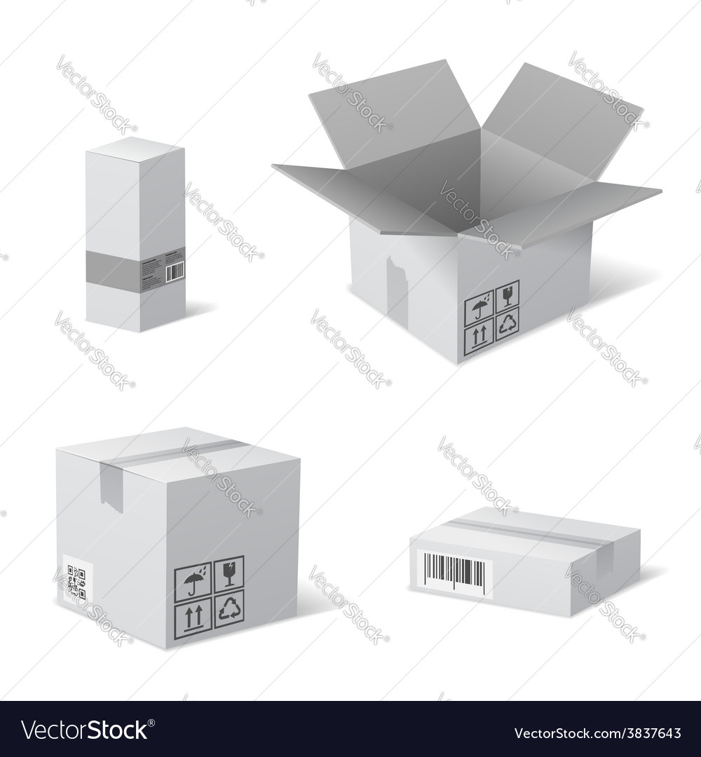 Packaging boxes vector | Price: 1 Credit (USD $1)