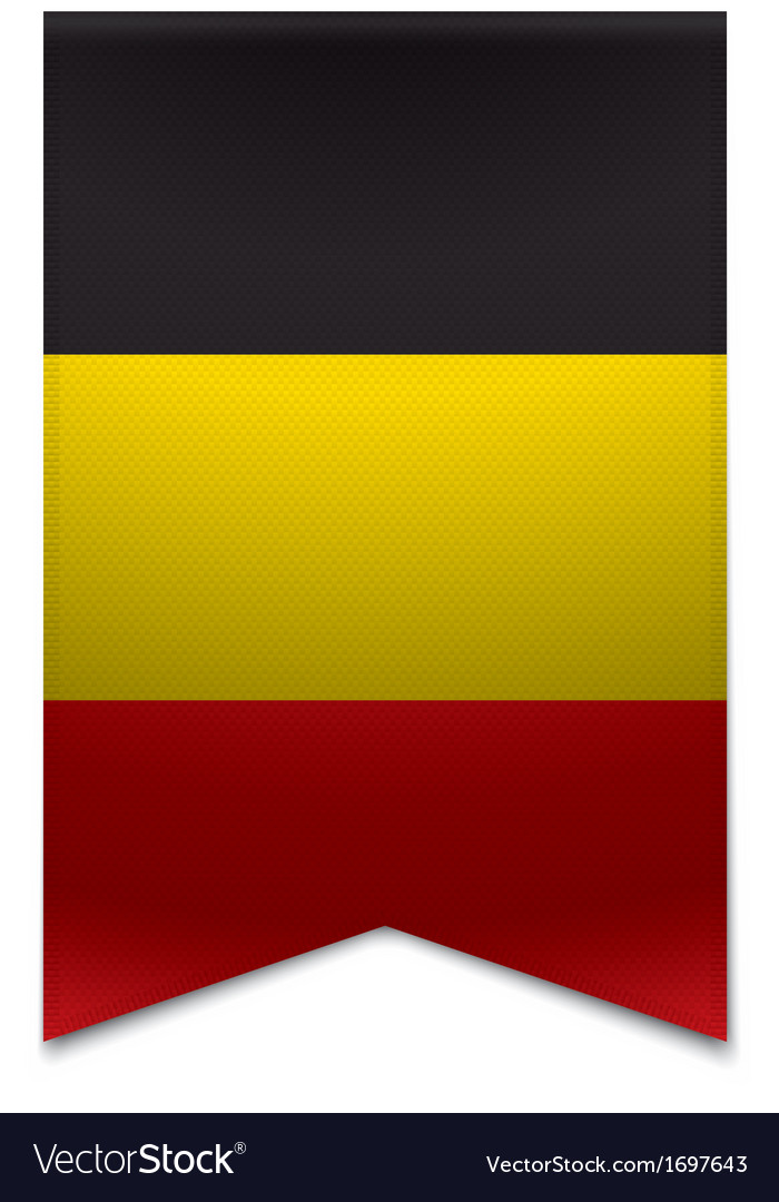 Ribbon banner - belgian flag vector | Price: 1 Credit (USD $1)