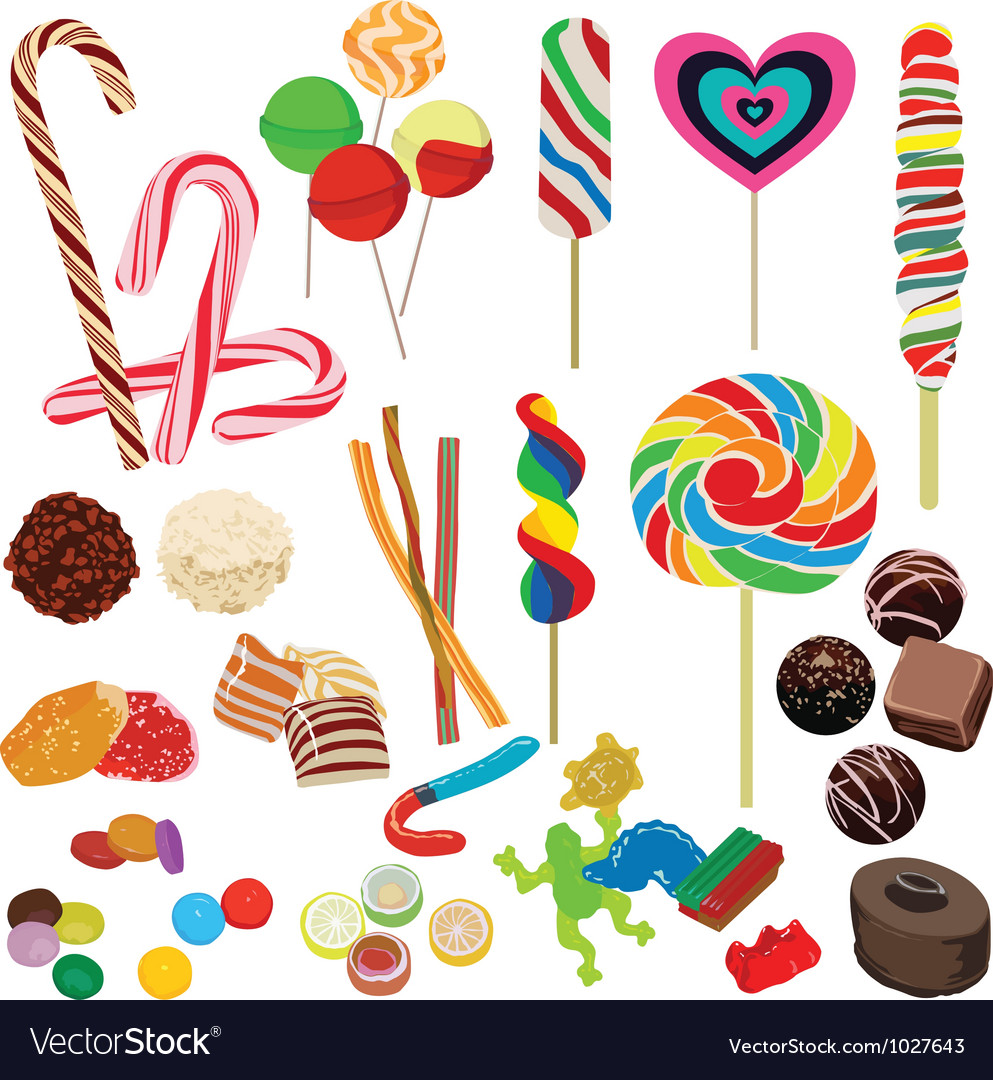 Set of different chocolates vector | Price: 1 Credit (USD $1)