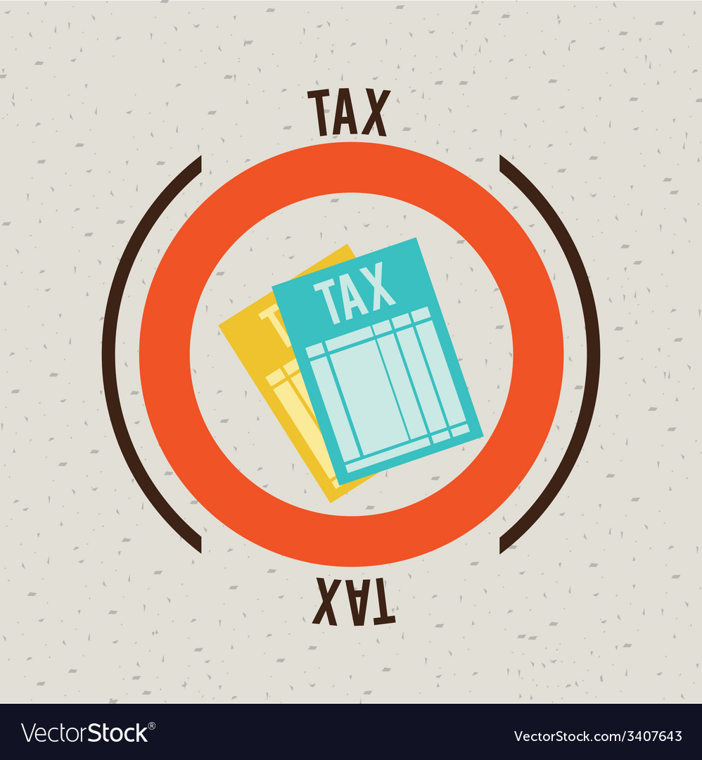 Tax design vector | Price: 1 Credit (USD $1)