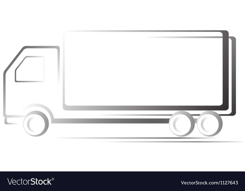 Transport icon with truck vector | Price: 1 Credit (USD $1)