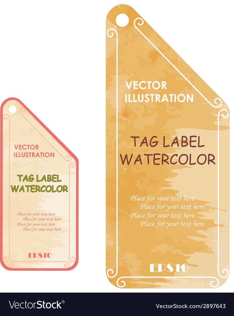 Watercolor tags label vector | Price: 1 Credit (USD $1)