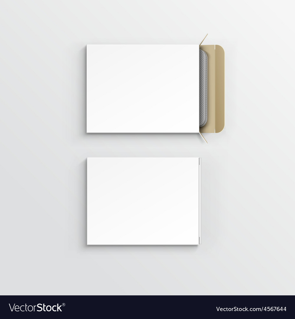 Blank package box for blister of pills vector | Price: 3 Credit (USD $3)