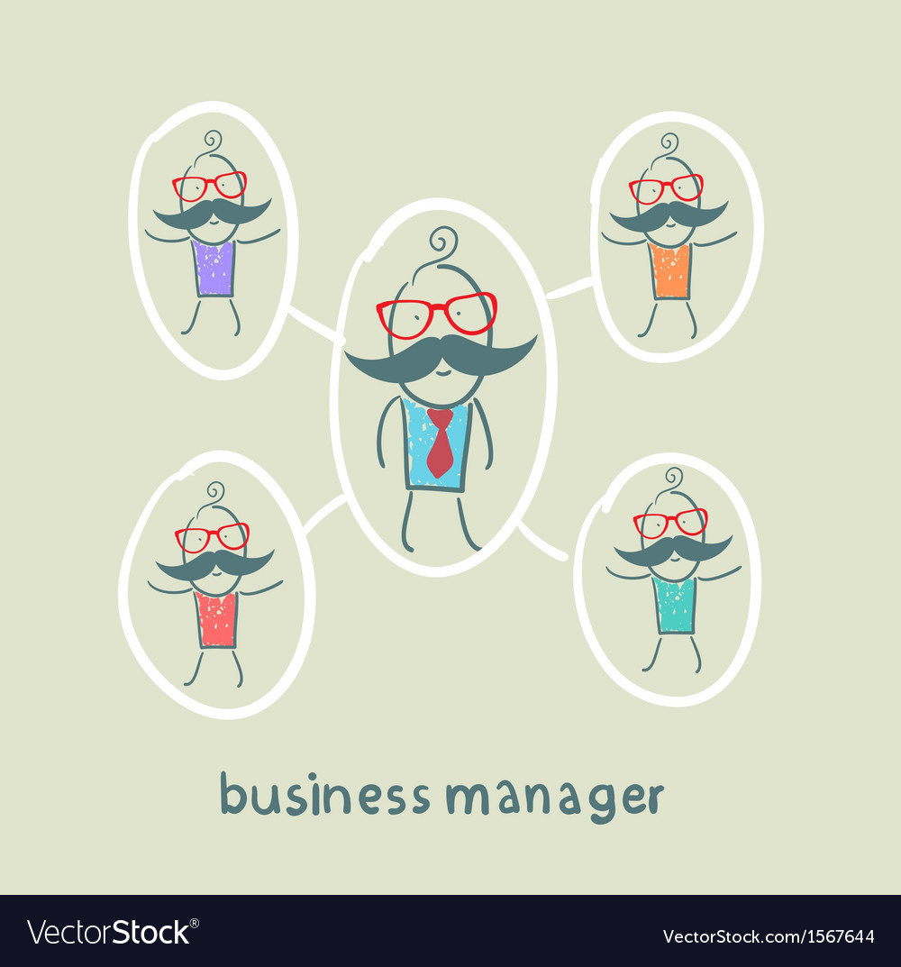 Business manager and his staff vector | Price: 1 Credit (USD $1)