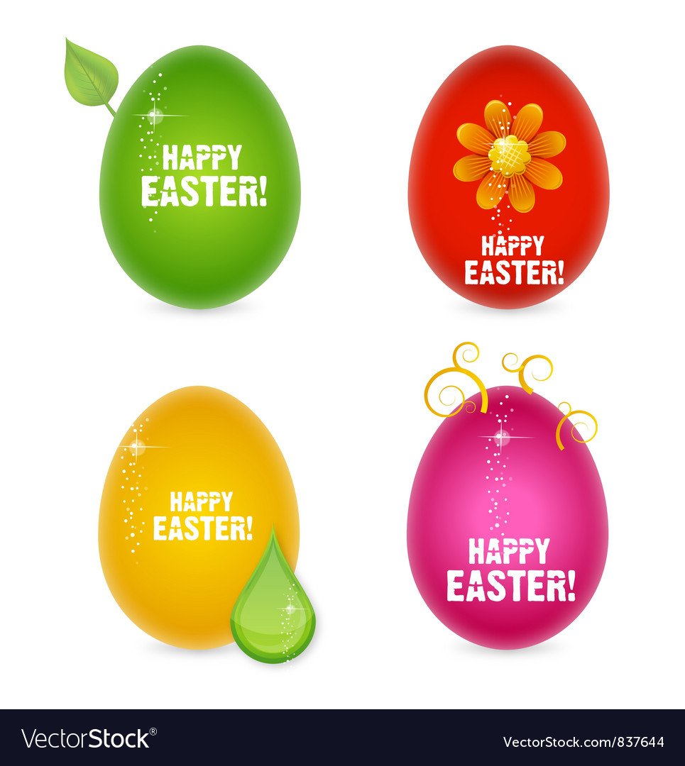 Easter eggs abstract creative sign vector | Price: 1 Credit (USD $1)